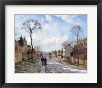Framed Road to Louveciennes, 1872