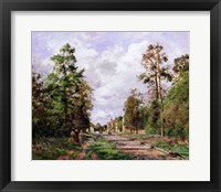 Framed road to Louveciennes at the edge of the wood, 1871
