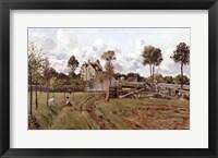 Framed Pontoise Landscape, c.1872