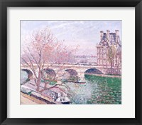 Framed Pont-Royal and the Pavillon de Flore, 1903