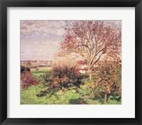 Framed Autumn morning at Eragny, 1897