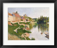 Framed River Bank, Petit-Andely, 1886
