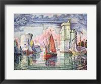 Framed Port at La Rochelle, 1921