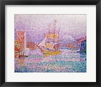 Harbour at Marseilles, c.1906 Framed Print