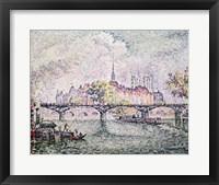 Framed Ile de la Cite, Paris, 1912