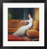 Framed Empress Josephine - yellow couch