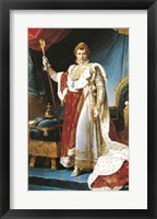 Framed Napoleon I in his coronation robe, c.1804