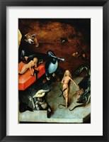 Framed Last Judgement (Altarpiece): Detail of Musical Instruments