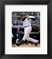 Framed Derek Jeter 2011 Action
