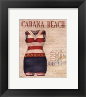 Cabana Beach - mini Framed Print