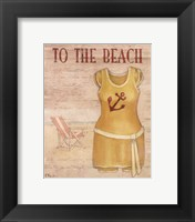 To The Beach - mini Framed Print