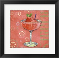 Calypso Cocktails I Framed Print