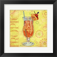Calypso Cocktails IV Framed Print