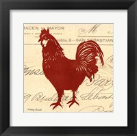Tuscan Rooster II Framed Print
