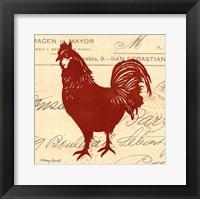 Framed Tuscan Rooster II