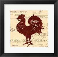 Tuscan Rooster III Framed Print