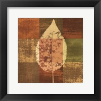 Framed Fall Leaf I