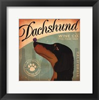 Framed Dachshund Wine