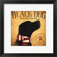 Black Dog Mistletoe Framed Print