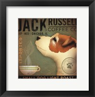 Jack Russell Coffee Co Framed Print