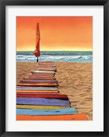 Orange Beachwalk Framed Print