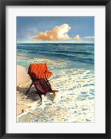 Blue Sky Splash Framed Print