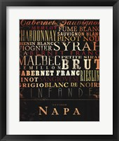 Napa Type Framed Print