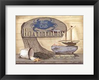 Framed Blue Crab Boat Tours