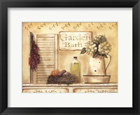 Garden Bath Framed Print
