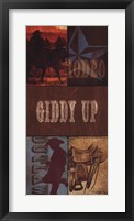 Framed Giddy Up