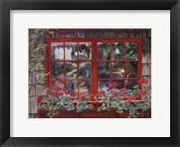 Framed Window with Flowers I
