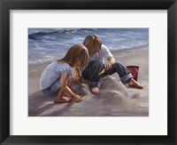 Sand Castle Builders Framed Print