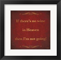 Framed Wine in Heaven