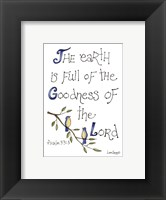 Goodness of the Lord Framed Print