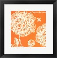 Summer Bees III Framed Print