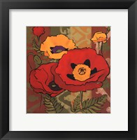 Framed Majestic Poppies I