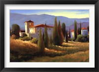 Blue Shadows in Tuscany I Framed Print