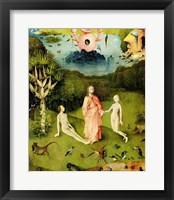 Framed Garden of Earthly Delights: The Garden of Eden, left wing of triptych, c.1500