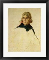 Framed Unfinished portrait of General Bonaparte