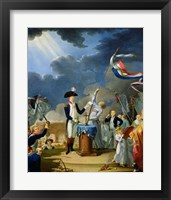 Framed Oath of Lafayette at the Festival of the Federation, 14th July 1790