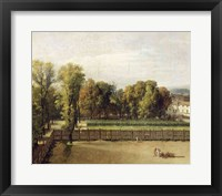 Framed View of the Luxembourg Gardens in Paris, 1794