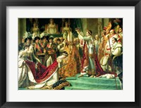 Framed Consecration of the Emperor Napoleon and the Coronation of the Empress Josephine