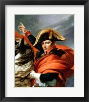 Framed Napoleon Crossing the Alps, detail