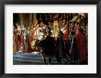 Framed Consecration of the Emperor Napoleon and the Coronation of the Empress Josephine, detail