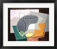Framed Fruit-dish and carafe, 1927