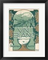 Vin Blanc Green Framed Print