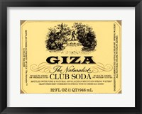 Framed Giza Club Soda