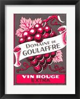 Framed Vin Rouge Red Grapes