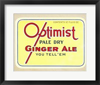 Framed Optimist Ginger Ale