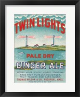 Framed Twin Lights Ginger Ale